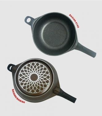 EasyCook Set Of Magic Cook Coffee - Pan Serbaguna Dengan Steamer Dan FireWall
