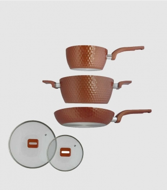 EasyCook Pan Set Diamond (5 Pcs.) - Pan Set Dengan Ceramic Coating