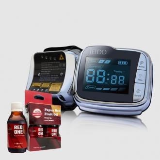 JEIDO POWER LASER Jam Tangan Terapi Anti Hipertensi Dan Diabetes + 1 Box Red One Booster