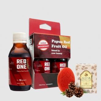 RED ONE BOOSTER Suplemen Daya Tahan Tubuh + Bonus  Alsyva Red Pine Soap